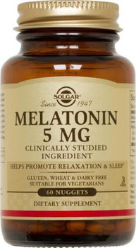 Solgar Melatonin Nuggets 5 mg 120 Count (Solgar Mel 5)