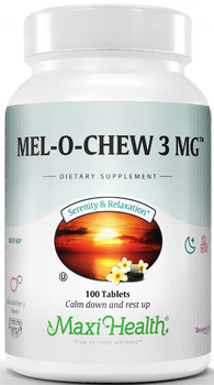 Maxi Health - Mel-O-Chew - Kosher Chewable Melatonin 3 mg - 100 Chewies