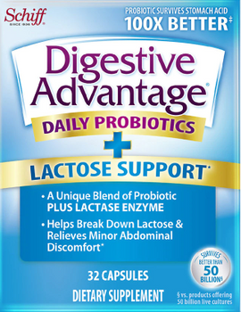 Schiff Digestive Advantage - Lactose Defense Formula - 96 Capsules - DoctorVicks.com