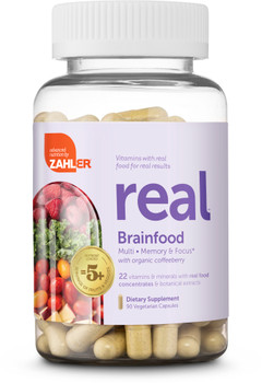 Zahlers Kosher Multi with Organic Coffeeberry for Brainfood, Memory & Focus Health Made With Real Food -  90 Vegetarian Capsules