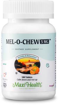 Maxi Health - Kosher Mel-O-Chew - Melatonin 5 Mg Berry Flavor - 100 Chewable Tablets