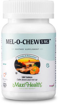 Maxi Health - Kosher Mel-O-Chew - Melatonin 5 Mg Berry Flavor - 100 Chewable Tablets
