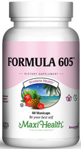 Maxi Health - Kosher Formula 605 (Melatonin 3 Mg) - 60 Vegetable Capsules