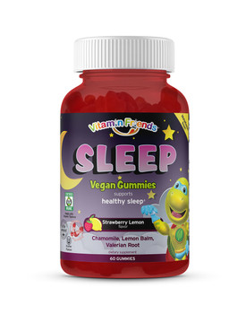 Vitamin Friends - SLEEP Melatonin FREE! Strawberry Lemon Flavor - 60 Gummy Bears - DoctorVicks.com