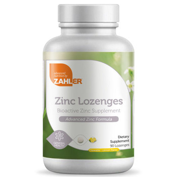 Zahler - Zinc Lozenges - Lemon Flavor - 90 Lozenges - DoctorVicks.com