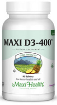 Maxi Health - Maxi Vitamin D3 400 IU - 90 Tablets - DoctorVicks.com