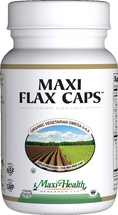 Maxi Health - Maxi Flax Caps - Flaxseed Oil 1400 mg - 90/180 Liquid MaxiCaps - DoctorVicks.com