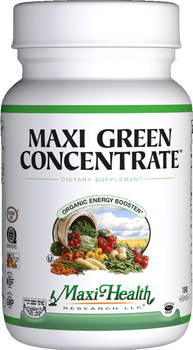 Maxi Health - Maxi Green Concentrate - Energy Formula - 180 MaxiCaps - DoctorVicks.com