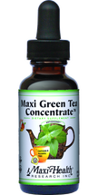 Maxi Health - Maxi Green Tea Concentrate - Energy Formula - Peach Flavor - 2 fl oz - DoctorVicks.com
