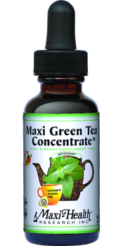Maxi Health - Maxi Green Tea Concentrate - Energy Formula - Peach Flavor - 2 fl oz - DoctorVicks.com