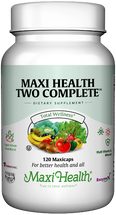 Maxi Health - Maxi Health Two Complete With Iron - Multivitamin & Mineral - 60/120/180 MaxiCaps - DoctorVicks.com