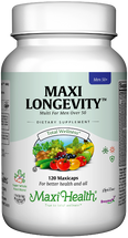 Maxi Health - Maxi Longevity for Men - Multivitamin & Mineral - 60/120 Tablets - DoctorVicks.com