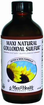 Maxi Health - Maxi Natural Colloidal Sulfur - 4 fl oz - DoctorVicks.com