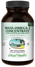 Maxi Health - Maxi Omega-3 Concentrate - 90/180+10 Free MaxiGels - DoctorVicks.com