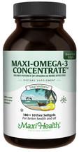 Maxi Health - Maxi Omega-3 Concentrate - 90/180+10 Free MaxiGels - DoctorVicks.com