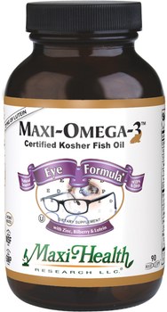 Maxi Health - Maxi Omega-3 - Eye Formula - 90 MaxiCaps - New - DoctorVicks.com