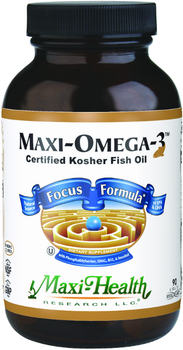 Maxi Health - Maxi Omega-3 - Improved Focus Formula - 90 MaxiCaps - DoctorVicks.com