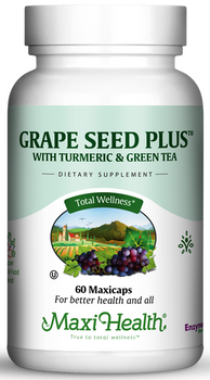 Maxi Health - Grape Seed Plus™ - OPC with Turmeric and Green Tea - 60 MaxiCaps - DoctorVicks.com