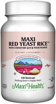Maxi Health - Maxi Red Yeast Rice With CoQ10 & Policosanol - 60/120 MaxiCaps - DoctorVicks.com