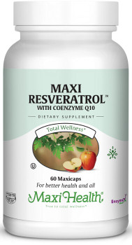 Maxi Health - Maxi Resveratrol - Heart & Memory Formula - 60 MaxiCaps - DoctorVicks.com