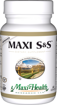Maxi Health - Maxi S&S - Selenium, Sulphur & Reishi Mushroom - 60 MaxiCaps - Improved - DoctorVicks.com