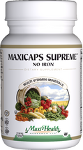 Maxi Health - Maxicaps Supreme No Iron - Multivitamin & Mineral - 180 MaxiCaps - DoctorVicks.com