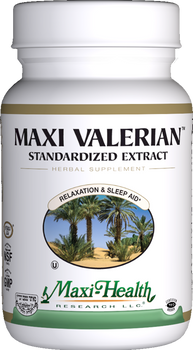 Maxi Health - Maxi Valerian - Stress Reliever - 90 MaxiCaps - DoctorVicks.com