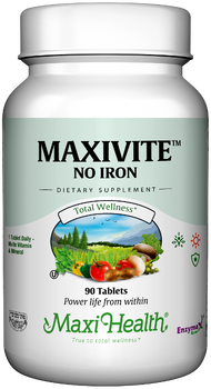 Maxi Health - Maxivite No Iron - Multivitamin & Mineral - 90 Tablets - DoctorVicks.com