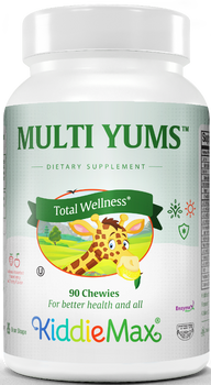 Maxi Health - KiddieMax - Multi Yums - Kosher Multivitamin & Mineral for Children - Assorted Flavors - 90 / 180 Chewies