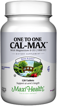 Maxi Health - One To One Cal-Max - Calcium, Magnesium & D3 - 120 Tablets - DoctorVicks.com