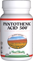 Maxi Health - Pantothenic Acid 500 mg - 100 Tablets - DoctorVicks.com