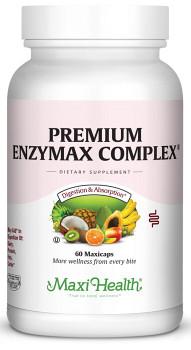 Maxi Health - Premium Enzymax Complex - Super Strength Digestive Formula - 60/120 MaxiCaps - DoctorVicks.com