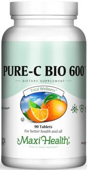 Maxi Health - Pure-C- Bio 600/Pure-C-Bio 600 - Blood Circulation Formula - 90/180 Tablets - DoctorVicks.com