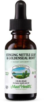 Maxi Health - Stinging Nettle Leaf & Goldenseal Root - 1 fl oz - DoctorVicks.com