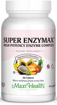 Maxi Health - Super Enzymax - High Potency Enzyme Complex - 60 Tablets - DoctorVicks.com