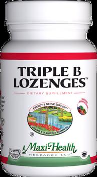 Maxi Health - Triple B Lozenges - as Methylcobalamin - Strawberry Flavor - 90/180 Lozenges - DoctorVicks.com