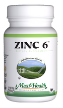 Maxi Health - Zinc 6 - 60 MaxiCaps - DoctorVicks.com