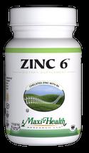 Maxi Health - Zinc 6 - 60 MaxiCaps - DoctorVicks.com