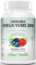 Maxi Health - OmegaYums 2000 - Fruit Flavor - 110 MaxiGels - DoctorVicks.com - New Look!
