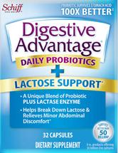 Schiff Digestive Advantage - Lactose Defense Formula - 32 Capsules - DoctorVicks.com