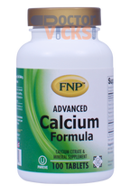 Freeda Vitamins - FNP - Advanced Calcium Formula - 100 Tablets - © DoctorVicks.com