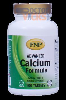 Freeda Vitamins - FNP - Advanced Calcium Formula - 100 Tablets - © DoctorVicks.com