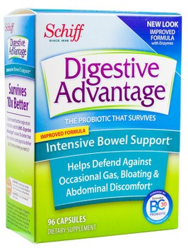 Schiff Digestive Advantage - Intensive Bowel Support - 96  Capsules - DoctorVicks.com