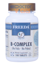Freeda Vitamins - B Complex No Folic Or Paba - 100 Tablets - © DoctorVicks.com