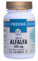 Freeda Vitamins - Alfalfa Concentrate 600 mg - 100 Tablets - © DoctorVicks.com