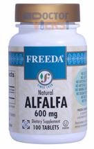 Freeda Vitamins - Alfalfa Concentrate 600 mg - 100 Tablets - © DoctorVicks.com