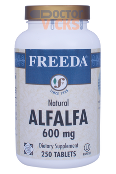 Freeda Vitamins - Alfalfa Concentrate 600 mg - 250 Tablets - © DoctorVicks.com