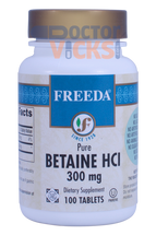 Freeda Vitamins - Betaine HCl 300 mg - 100 Tablets - © DoctorVicks.com