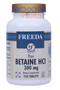 Freeda Vitamins - Betaine HCl 300 mg - 250 Tablets - © DoctorVicks.com