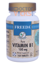 Freeda Vitamins - Vitamin B1 (Thiamin) 100 mg - 100 Tablets - © DoctorVicks.com